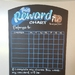A3 Reward Chart Chalkboard Magnetic Organiser (Blues)