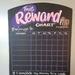A3 Reward Chart Chalkboard Magnetic Organiser (Pink)