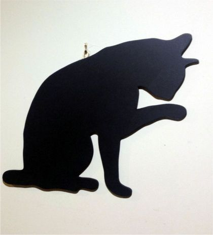 Cat Hanging Chalkboard