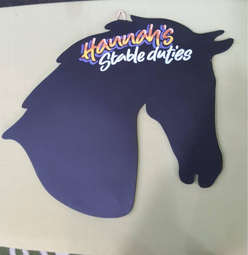 Horse Hanging Chalkboard