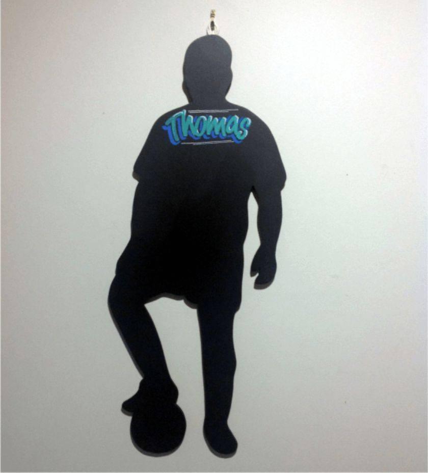 Footballer Hanging Chalkboard