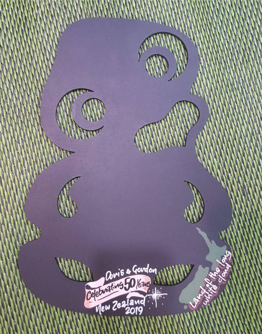 Tiki Fridge Magnet Chalkboard