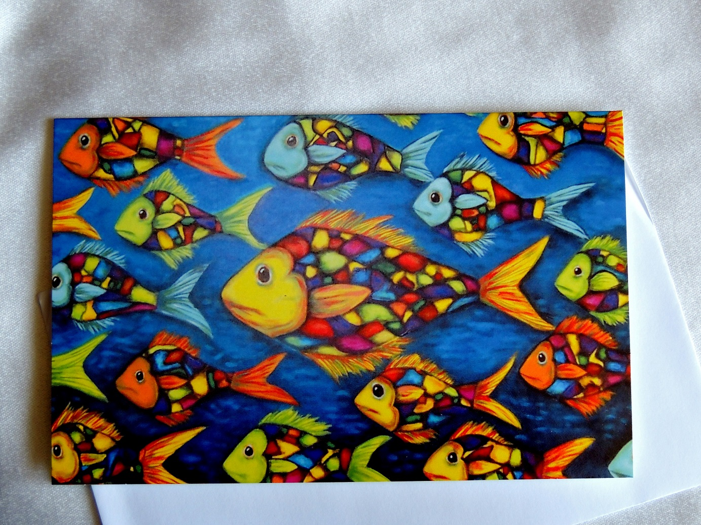 Stained glass fish felt for Stained glass fish