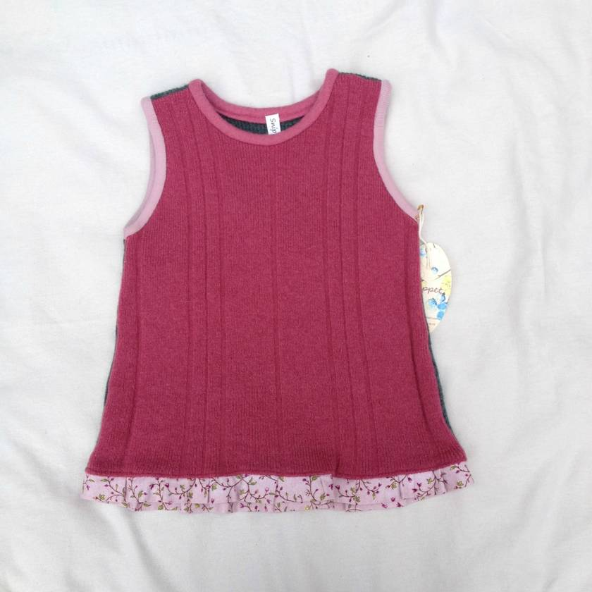 Size 3 Girls Woollen Vest