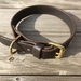 Handcrafted Vegetable Tanned Leather Dog Collar Dark Brown