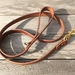 Handcrafted Vegetable Tanned Leather Dog Lead Cognac