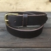 Handcrafted Vegetable Tanned Leather Belt Dark Brown Size M
