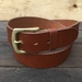 Handcrafted Vegetable Tanned Leather Belt Cognac Size L