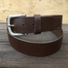 Handcrafted Vegetable Tanned Leather Belt Dark Brown Size XL
