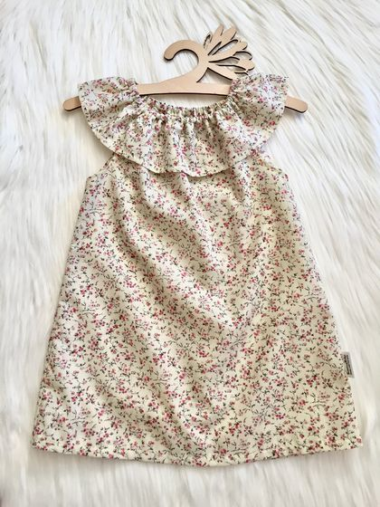 Spring Blossom Ruffle Neck Dress