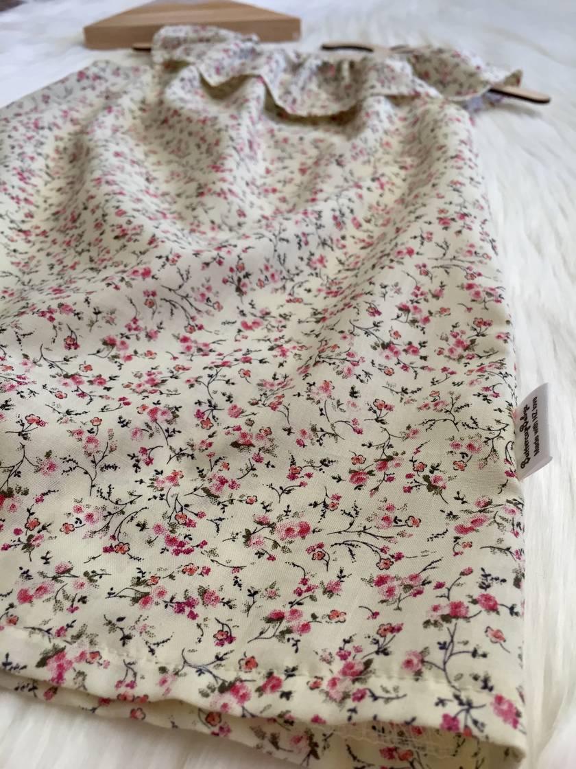 Spring Blossom Ruffle Neck Dress