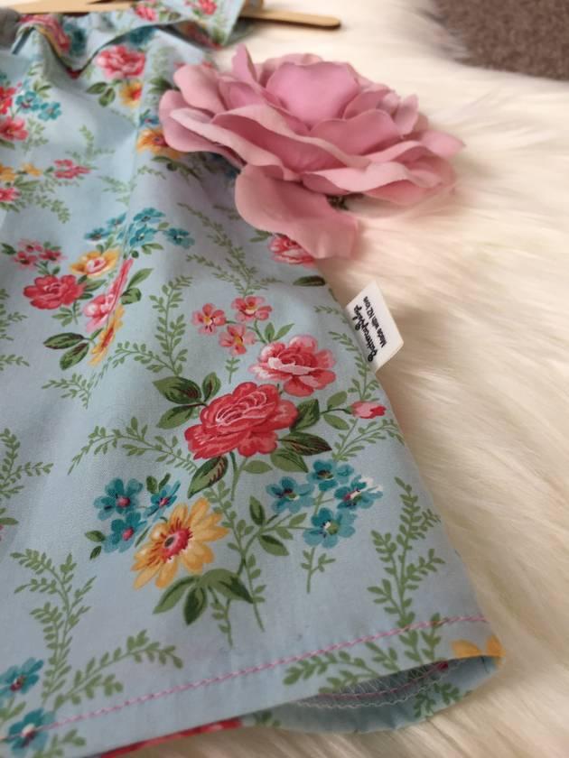 Floral Ruffle Neck Dress
