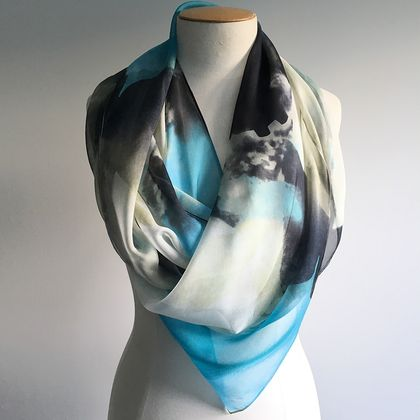 Beautiful Pure Silk Scarf - Perfect Christmas Gift!