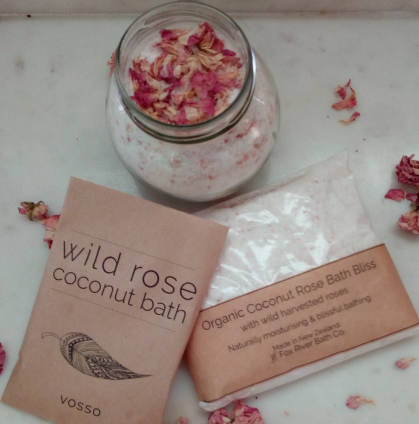 Wild rose and coconut Bath - organic