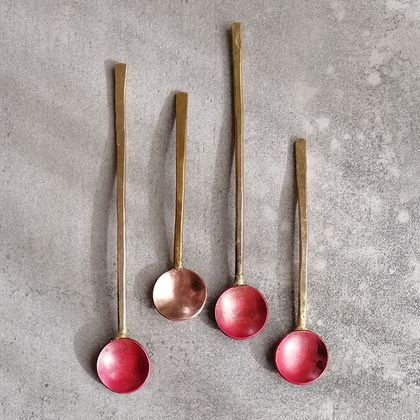 Handcrafted condiment spoons