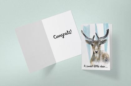 Deer card for newborn