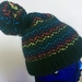 Rainbow Zig-Zag Child's Pompom Beanie