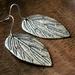 Beadsnknots: Tibetan Antique Silver Leaf Earrings