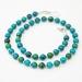 Beadsnknots: Green Azurite Gemstone Necklace