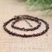 Beadsnknots: Declicate Garnet Gemstone Necklace