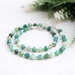 Beadsnknots: Beautiful Teal Polygonal Mixed Agate Gemstone Necklace