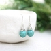 Beadsknots: Simple Silver & Turquoise Earring Drops