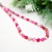 Beadsnknots: Beautiful Pink Polygonal Mixed Agate Gemstone Necklace