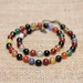 Beadsnknots Original Colourful Agate Gemstone Necklace