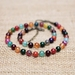 Beadsnknots Vintage-Colourful Agate Gem Necklace