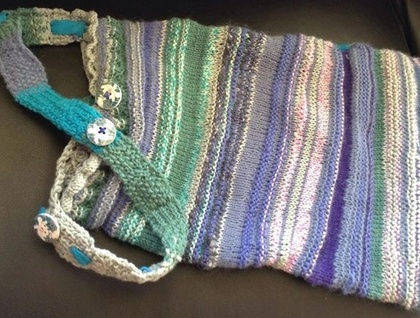 "Knitted bag: ""Azuline"""