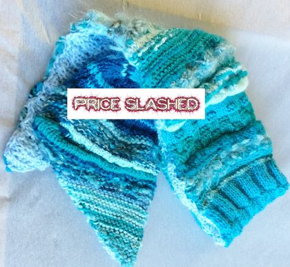 Scarf: Shades of Winter Sea - DISCOUNTED PRICE
