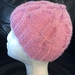 Pink cable hat (Tipping the Beanie range)