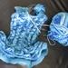 Blue ruffle tunic