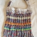 """""""Sandy Coral Islands"""" knitted bag"""
