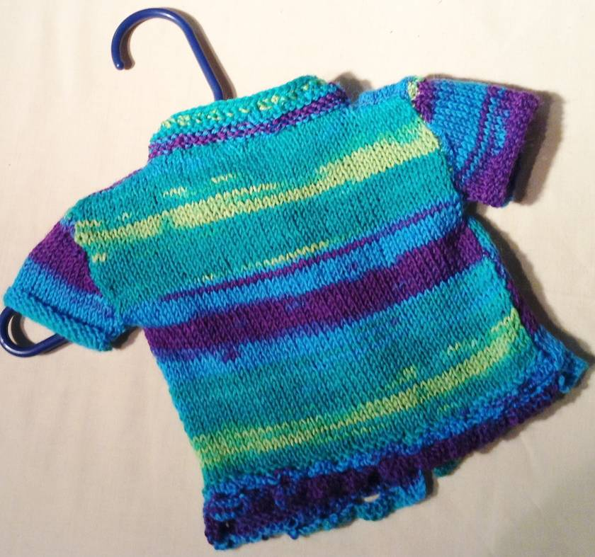 Jacket: Summer seaside - blue, purple, green, aqua