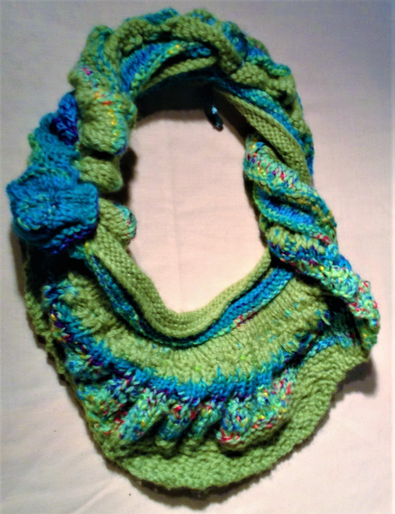 Scarf Infinite Spring Infinity Scarf Mini Shawl Greens And