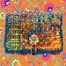 Handmade: Psychedelic Folk purse (Cheeky Baggage range)