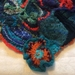Handknit Scrumble Shaw: Tiger Lily+Morning Glory (Eclectic Rapt range)