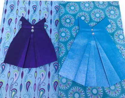 Origami Dress Card - Pack 4