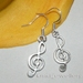 *Lovely Tibetan Silver metal Musical Notes earrings*