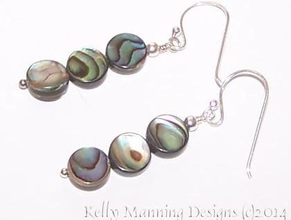 *Gorgeous Designer PAUA drop earrings*