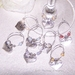 * Gorgeous little HEN'S PARTY heart wineglass charms - set of 8 *