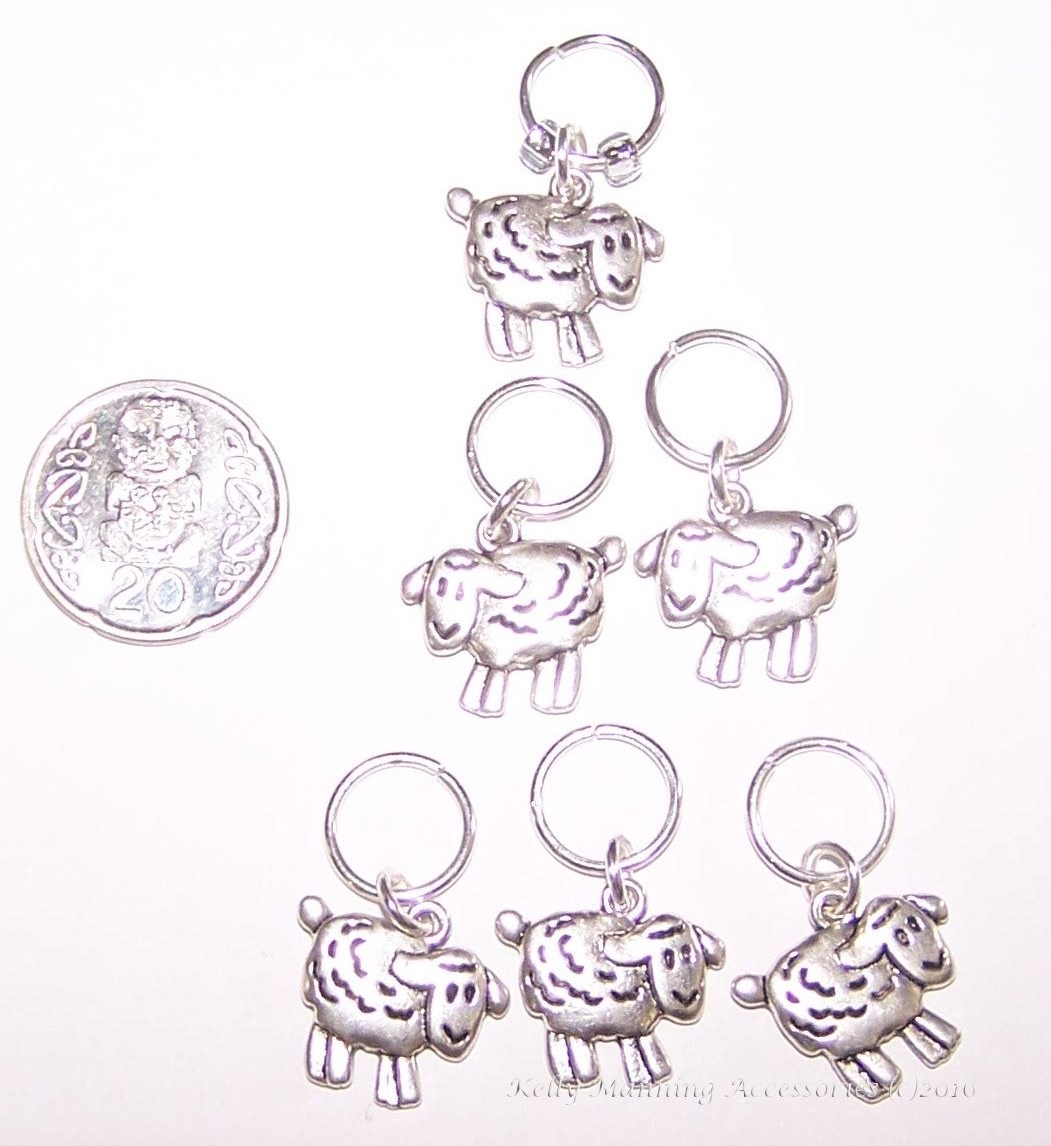 Knitting Stitch Markers Nz : * Cute SHEEP stitch markers for KNITTING - set of 6 * Felt