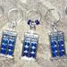 * Fun BLUE TARDIS Knitting Stitch markers - set of 5 *