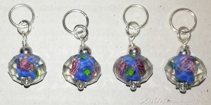 * Gorgeous Bead Stitch Markers for Knitting - set of 4 *