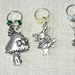 * Lovely Tibetan Silver metal ALICE IN WONDERLAND themed stitch markers for knitting - set of 5 *