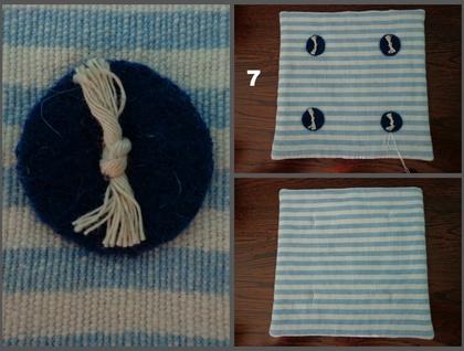 Striped Tea Pot Mat