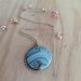 Wire wrapped, turquoise bead pendant necklace -upcycled jewellery-