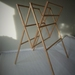 Recycled wood folding drying rack