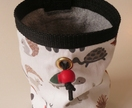 Rock climbing chalk bag (moose, hedgehog and rabbit)